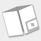 PIEGHEVOLI/DEPLIANTS DIN A6L - 7,4x21 cm CHIUSO 4 ANTE<br> 3 PIEGHE A FINESTRA