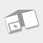 PIEGHEVOLI/DEPLIANTS 9,8x9,8 cm CHIUSO 4 ANTE<br>QUADRATO CHIUSURA 3 PIEGHE A FINESTRA