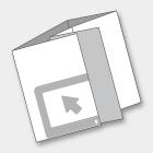 PIEGHEVOLI/DEPLIANTS DIN A7 - 7,4x10,5 cm CHIUSO 6 ANTE<br>CHIUSURA A PORTAFOGLIO
