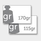 GRAMMATURA COPERTINA 170 gr - INTERNO 115 gr